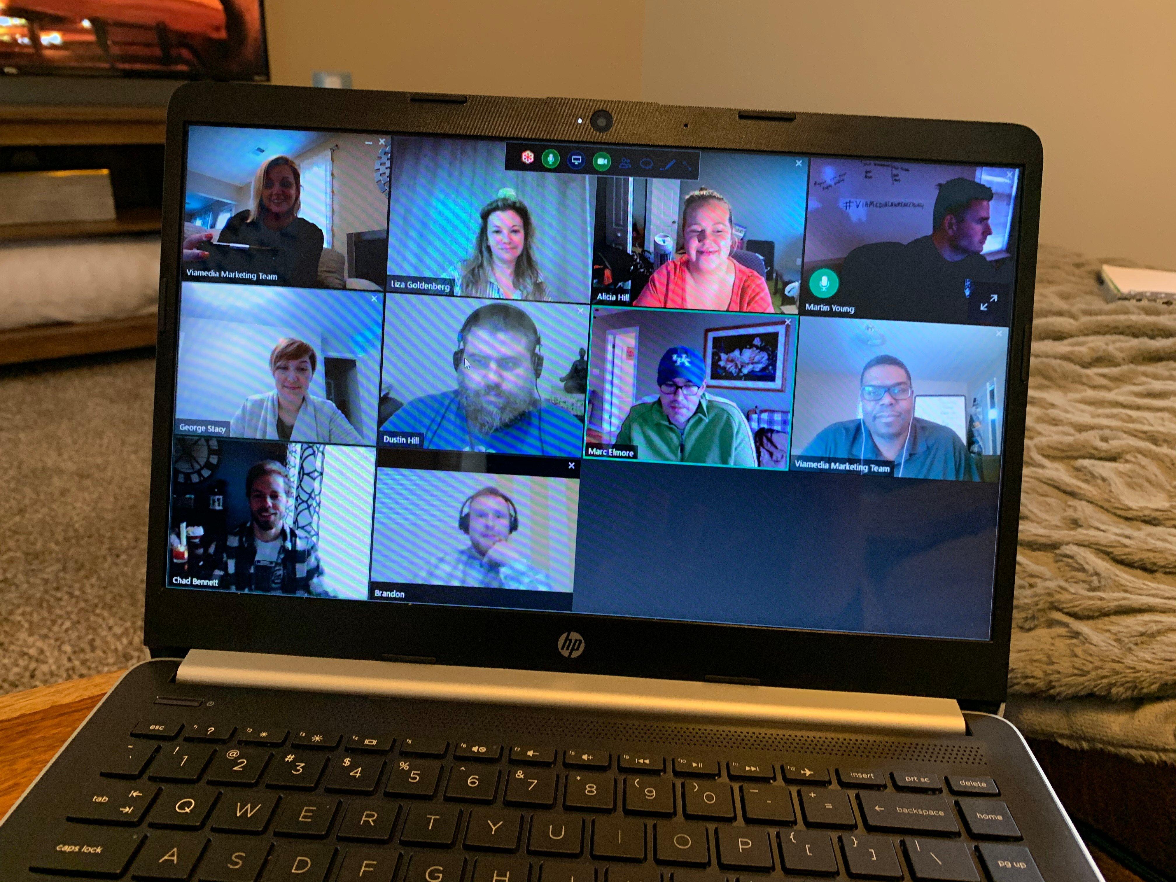 Viamedia Staffers Video Conferencing